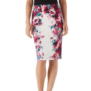 🌷White House Black Market Floral Skirt Size 14🌷